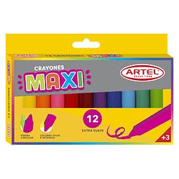 Crayones 12 colores maxi
