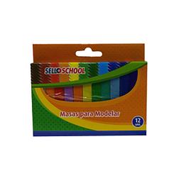 Plasticina 12 colores selloffice
