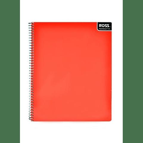 Cuaderno universitario liso matemática 7mm  100 hjs