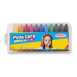 Pinta cara 12 colores artel