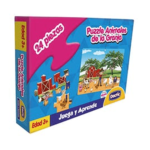 Puzzle 24 piezas animales de la granja