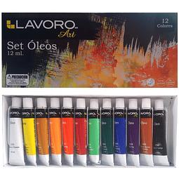 Set Óleo 12 Colores Lavoro
