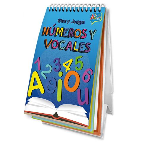 Libro Gira y Juega Número y Vocales