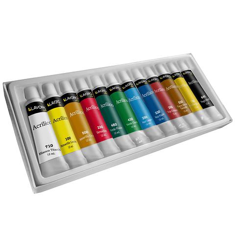 Set Acrílicos 12 Colores Lavoro