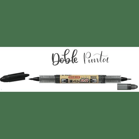 Brush Pen Twin Negro Pilot