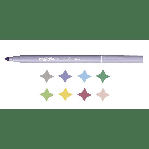 Plumones 8 Colores Pastel Carioca