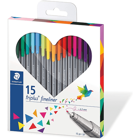Set Fineliner 15 Colores Staedtler