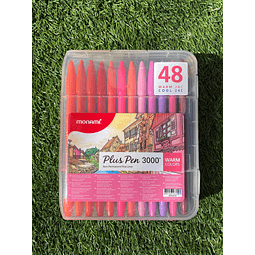 Plus Pen 3000 48 Colores Monami