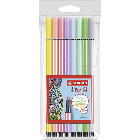 Set Stabilo 8 Colores Pastel Pen 68