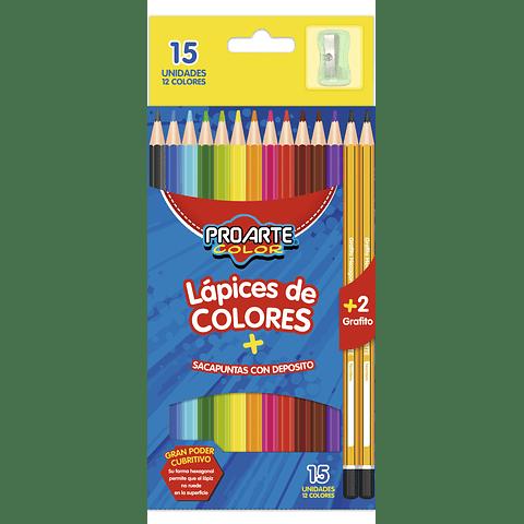 Lápices 12 Colores Hexagonal Proarte