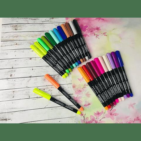 Brush Pen Lavoro 24 colores