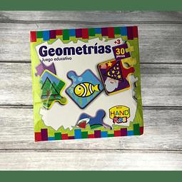 Juego Didáctico Figuras Geométricas 30 Piezas Hand Kids