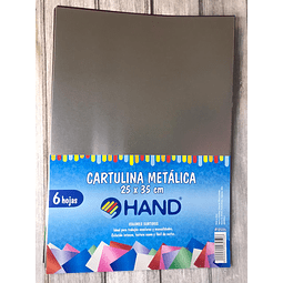 Sobre Cartulina Metálica 6 Hojas Hand