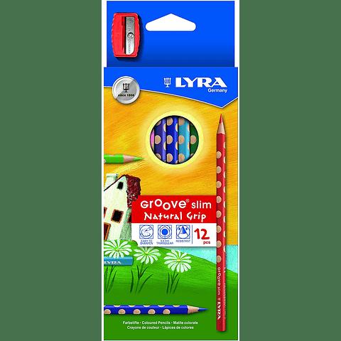 Lápices 12 colores Groove Slim Lyra