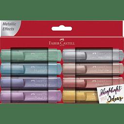Destacadores Metálicos 8 colores Faber Castell
