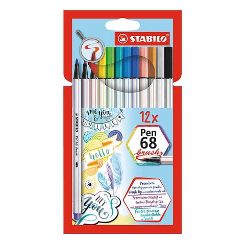 Brush Pen 68 12 Colores Stabilo