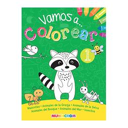 """Libro para Colorear """"Vamos a Colorear 1"""" Mundicrom"""