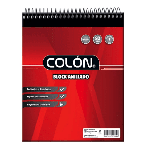 Block Espiral Universitario 7mm Colón