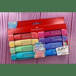 Destacador 8 Colores Pastel Faber Castell