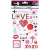 Stickers Scrapbook Diseño Patentes y corazones Lavoro