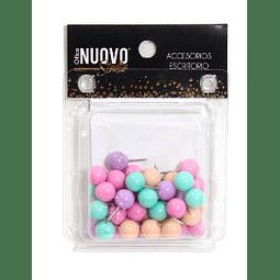 Push Pins Redondos Pastel Nuovo