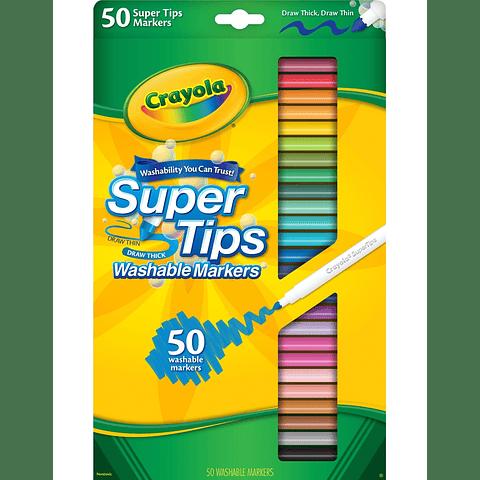Super Tips 50 colores Crayola