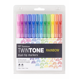 Set Twintone Dual Rainbow 12 Colores Tombow