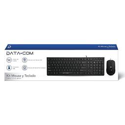 Kit Teclado y Mause USB Negro Datacom