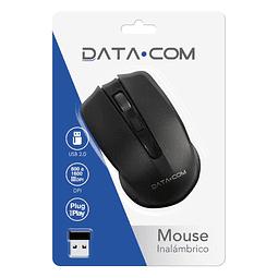 Mouse Optico Inalámbrico Negro Datacom