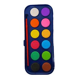 Acuarela 12 Colores con Pincel Art Craft