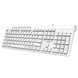 Teclado Alambrico USB Slimstar 230 Genius Blanco