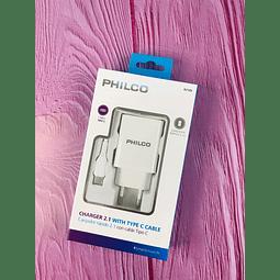 Kit Cargador con Cable Usb Tipo C Philco