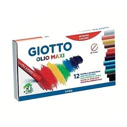 Lapices 12 Colores Pastel Graso Olio Maxi Giotto