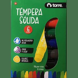 Tempera Sólida 6 Colores Torre