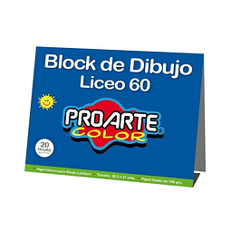 Block Dibujo Liceo 20 Hojas Proarte