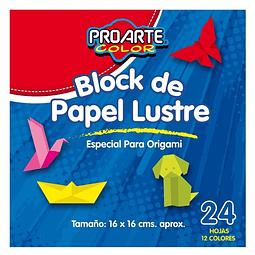 Block Papel Lustre 16x16 24 Hojas Proarte