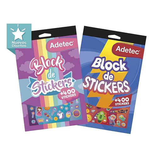 Block 400 Stickers Adetec