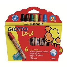 Lápices 6 colores Giotto Bebé