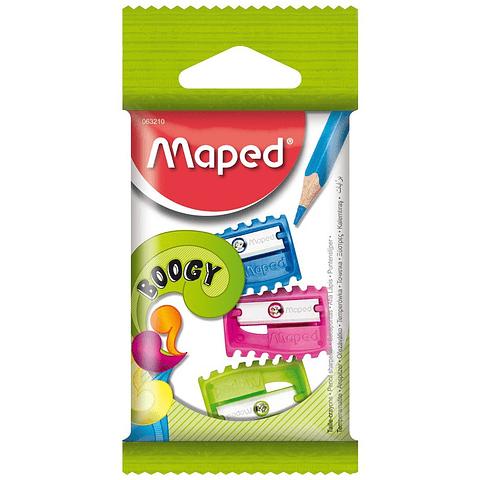 Set 3 Sacapuntas Simple Boogy Maped