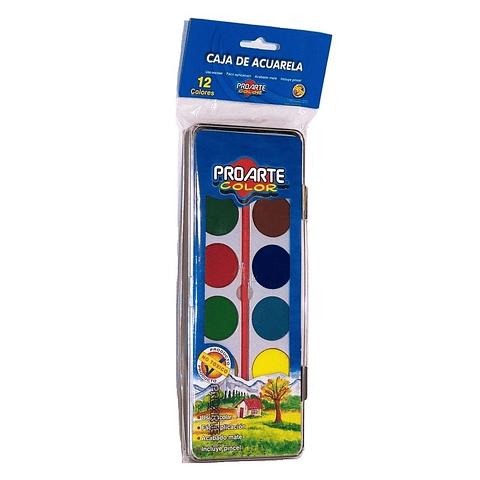 Acuarela 12 Colores Proarte