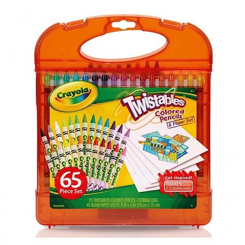 Set Lapices 65 Piezas Twistables Crayola