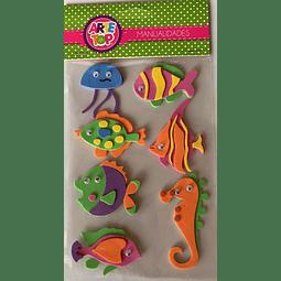 Figura Goma Eva Animales Oceano Arte Top