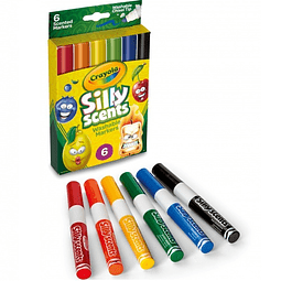 Plumones 6 Colores Silly Scents Crayola
