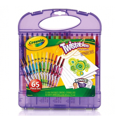 Set Mini Crayones 65 Colores Twistables Crayola