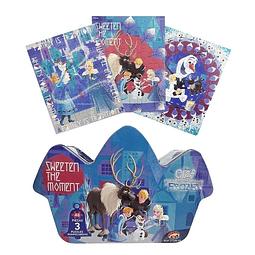 Puzzle 3 Diseños Caja Metálica Frozen