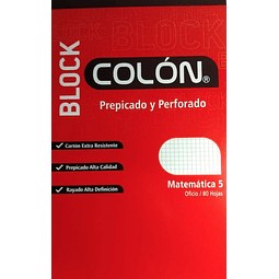 Block Prepicado 5mm Oficio Colon