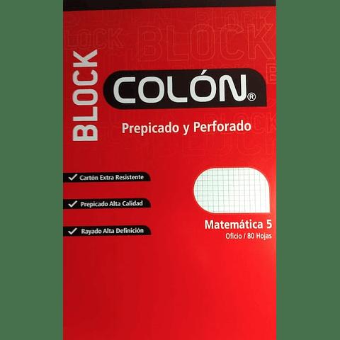 Block Prepicado 5mm Oficio Colon