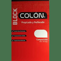 Block Prepicado Oficio Líneas Colon