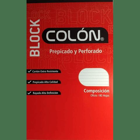 Block Prepicado Líneas Oficio Colon