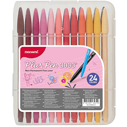 Plus Pen 3000 24 Colores Monami